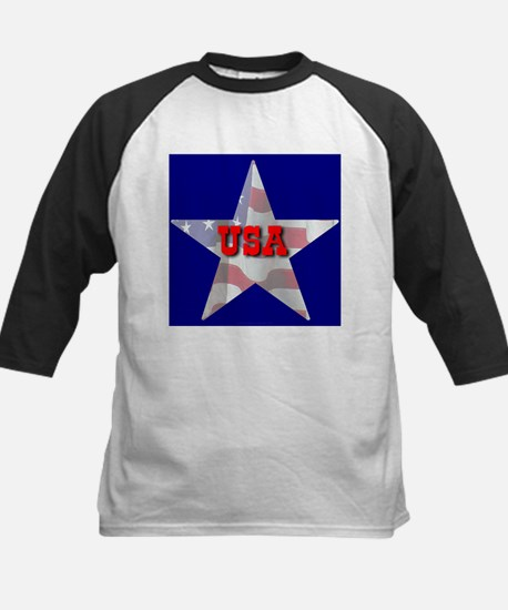 USA FLAG STAR Kids Baseball Jersey