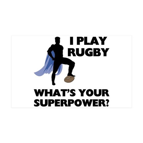 Rugby Superhero 38.5 x 24.5 Wall Peel