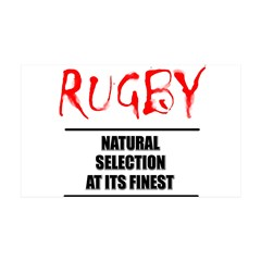 Rugby Natural Selection Wall Decal