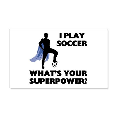 Soccer Superhero 22x14 Wall Peel