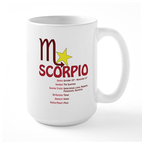 Scorpio Traits Large Mug