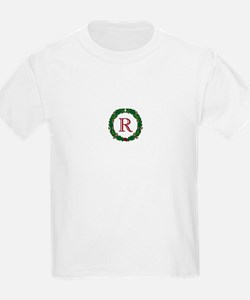 "Oak Wreath ""R"" Kids T-Shirt"