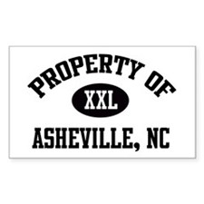 Property of Asheville Rectangle Decal