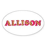 Allison Sticker (Oval 10 pk)