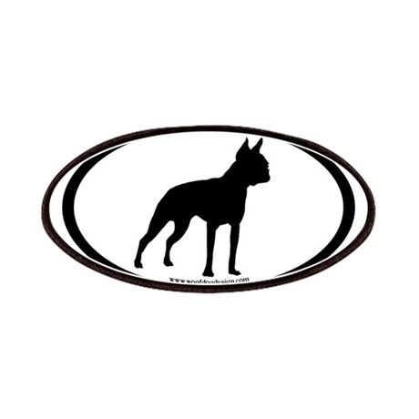 Boston Terrier Oval Patches