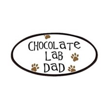 Chocolate Lab Dad Patches