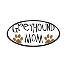 Greyhound Mom Oval Patches