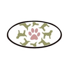 Sage Labradoodle Circle Patches