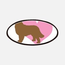 pink heart brown newf dog Patches