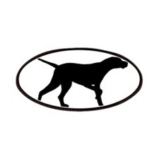 Pointer Dog Oval Patches