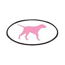 Pink Pointer Dog Patch