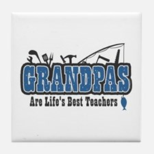 Grandpa Life's Best Teacher Tile Coaster