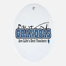 Grandpa Life's Best Teacher Ornament (Oval)