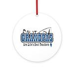 Grandpa Life's Best Teacher Ornament (Round)
