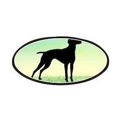 Grassy Field Vizsla Dog Patches