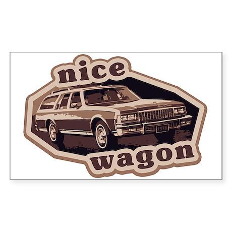 Nice Wagon Rectangle Sticker