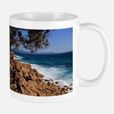 Rocky coast near South West Rocks, Australia Mugs