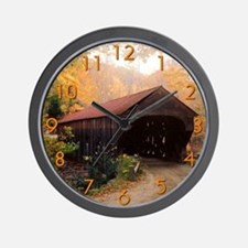 Vermont Covered Bridge Wall Clock