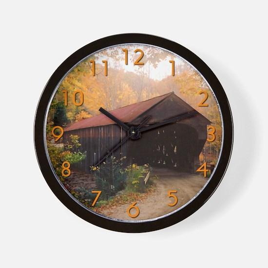 Vermont Covered Bridge Wall Clock