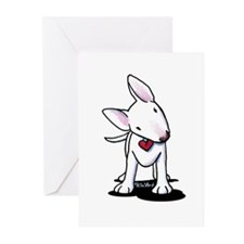 Curious Bull Terrier Greeting Cards (Pk of 10)