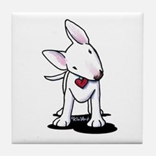 Curious Bull Terrier Tile Coaster