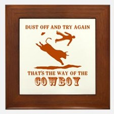 The Way of the Cowboy Framed Tile