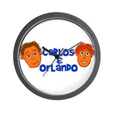 Carlos and Orlando Wall Clock