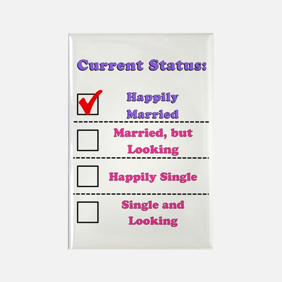 Happily Married Rectangle Magnet