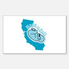 Made In California - Badass Sticker (Rectangle)