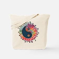 Tie-Dye Yin-Yang Tote Bag
