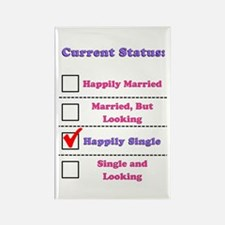 Happily Single Rectangle Magnet