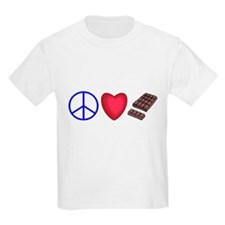 peace, love and chocolate T-Shirt