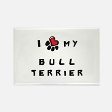 I *heart* My Bull Terrier Rectangle Magnet (100 pa