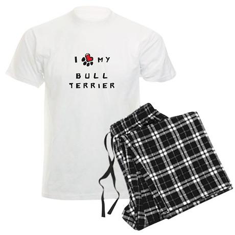 I *heart* My Bull Terrier Men's Light Pajamas
