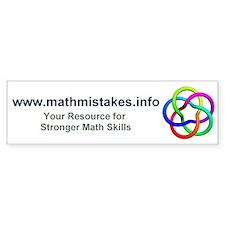 mathmistakes.info Bumper Bumper Sticker