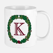 "Oak Wreath ""K"" Mug"