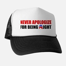 """Never Apologize"" Hat"