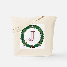 "Oak Wreath ""J"" Tote Bag"