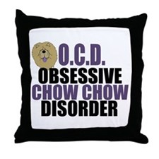 Funny Chow Throw Pillow