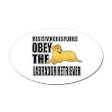 Labrador Retriever 22x14 Oval Wall Peel