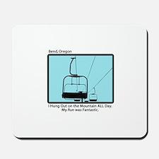 Chair Lift Blues Mousepad