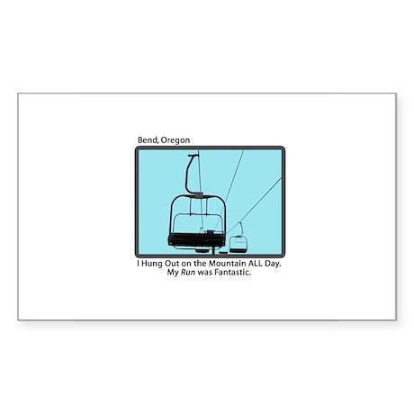 Chair Lift Blues Rectangle Sticker