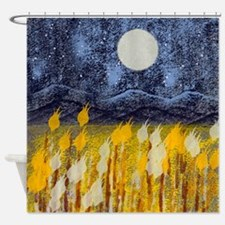 Funny Gold country Shower Curtain