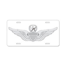 Master Aviator Aluminum License Plate