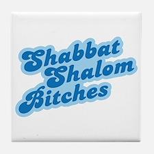 Shalom Bitches Tile Coaster
