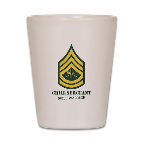 Grill Sgt. Shot Glass