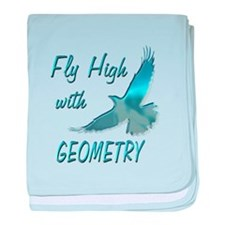 Fly with Geometry baby blanket