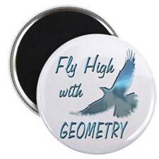 """Fly with Geometry 2.25"""" Magnet (10 pack)"""