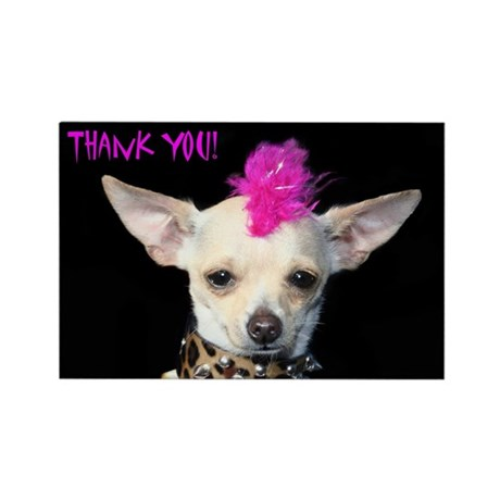 Thank You Chihuahua Punk Rectangle Magnet By Ritmoboxers
