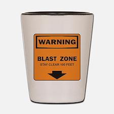 Warning Blast Shot Glass